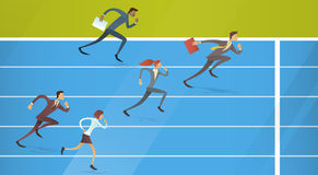 Os executivos agrupam a corrida Team Leader Competition Concept Imagem de Stock Royalty Free
