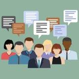 Os executivos agrupam a fala Fotografia de Stock Royalty Free