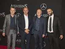 Os executivos de Ubisoft no ` do credo do ` s do assassino do ` Premiere imagem de stock