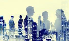 Os executivos do acordo do negócio Partners o conceito da colaboração Foto de Stock Royalty Free