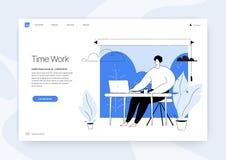 Os executivos do conceito do escritório Vector o conceito de projeto da ilustração do página da web Fotografia de Stock