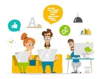 Os executivos novos team o trabalho no escritório contemporâneo moderno Imagens de Stock Royalty Free