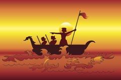 Os exploradores do mar Imagens de Stock