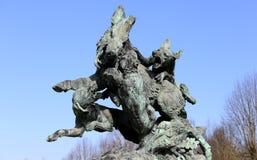 Os exteriores e o parque de Grosbois fortificam, leger de Saint de Boissy, França Imagens de Stock Royalty Free
