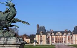 Os exteriores e o parque de Grosbois fortificam, leger de Saint de Boissy, França Foto de Stock