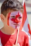 Os fãs canadenses chegam ao BC Place Stadium Imagem de Stock Royalty Free