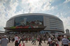 Os fãs de hóquei em gelo de Bielorrússia Foto de Stock Royalty Free