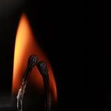 Os fósforos ardentes fecham-se Foto de Stock Royalty Free