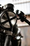 Os faróis da motocicleta imagens de stock