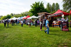 Os fazendeiros introduzem no mercado em Courtenay, Columbia Britânica Canadá Fotos de Stock Royalty Free