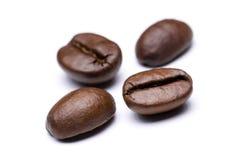Os feijões de café fecham-se acima fotos de stock royalty free