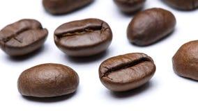 Os feijões de café fecham-se acima imagem de stock royalty free