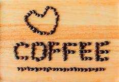 Os feijões de café são literalmente foto de stock