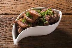 Os feijões triturados com salsicha chamaram Tutu de Feijao em Brasil Foto de Stock