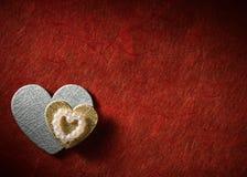 Os feriados cardam com coração Foto de Stock