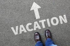 Os feriados do feriado das férias relaxam o negócio relaxado franco dos povos da ruptura Fotografia de Stock