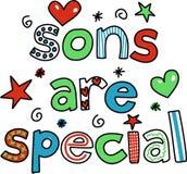Os filhos são especiais ilustração royalty free