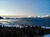 Os fiords majestosos de Alaska foto de stock royalty free