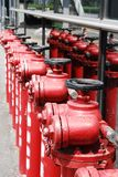 Os fireplugs fotografia de stock
