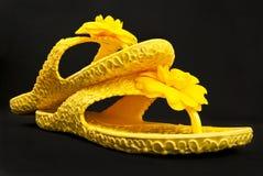 Os flip-flops das mulheres. Imagem de Stock Royalty Free