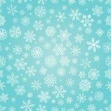 Os flocos da neve do inverno rabiscam o fundo sem emenda Fotos de Stock