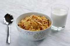 Os flocos de milho. fotografia de stock