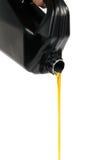 Os fluxos para fora fazem à máquina o petróleo Imagens de Stock