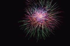 Os fogos-de-artifício abstraem no fundo escuro Imagem de Stock Royalty Free
