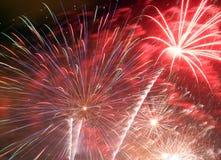 Os fogos-de-artifício explodem Foto de Stock Royalty Free