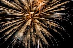 Os fogos-de-artifício iluminam acima o céu Imagens de Stock Royalty Free