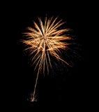 Os fogos-de-artifício iluminam acima o céu com exposição do brilho - cor vibrante Imagens de Stock Royalty Free