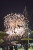 Os fogos-de-artifício indicam no dia de Canadá em Toronto, SOBRE, Canadá Imagens de Stock