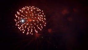 Os fogos-de-artifício reais bonitos inculed o áudio filme