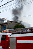 Os fogos ocorreram no meio-dia Fotos de Stock