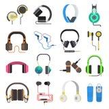 Os fones de ouvido vector o grupo Imagens de Stock