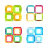 Os frames quadrados abstratos isolaram o jogo Foto de Stock Royalty Free
