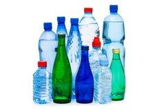 Os frascos da água isolaram-se Fotos de Stock