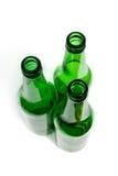 Os frascos de vidro verdes. Fotos de Stock Royalty Free