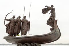 Os fundadores de Kiev no fim-acima Foto de Stock Royalty Free