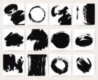 Os fundos abstratos do vetor da sujeira com grunge escovam cursos e a textura afligida ilustração stock
