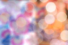 Os fundos coloridos do bokeh, cebola borraram fundos do bokeh da cor Fotografia de Stock