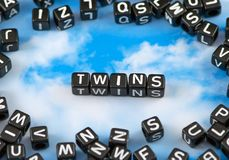 Os gêmeos da palavra imagem de stock royalty free