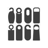 Os ganchos do botão de porta ajustaram-se isolado no fundo branco Modelo do gancho para seu projeto Ilustração do vetor Imagem de Stock