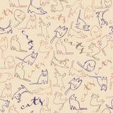 Os gatos modelam com texto Imagens de Stock Royalty Free