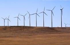 Os geradores de vento fazem a eletricidade Imagens de Stock Royalty Free