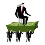 Os gerentes levam o chefe Os trabalhadores são cabeça Qui levando do caixeiro de escritório Fotografia de Stock