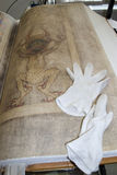 Os gigas do códice igualmente chamaram a Bíblia de Diabo Foto de Stock Royalty Free