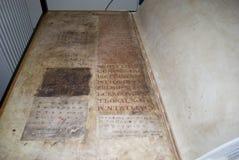 Os gigas do códice igualmente chamaram a Bíblia de Diabo Foto de Stock