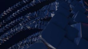 Os gráficos 3d do movimento deram laços na animação como o fundo dentro com cubos simples e profundidade de campo balanço azul do filme