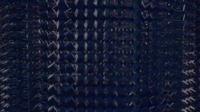Os gráficos 3d do movimento deram laços na animação como o fundo em 4k com cubos simples e profundidade de campo as fileiras dos  filme